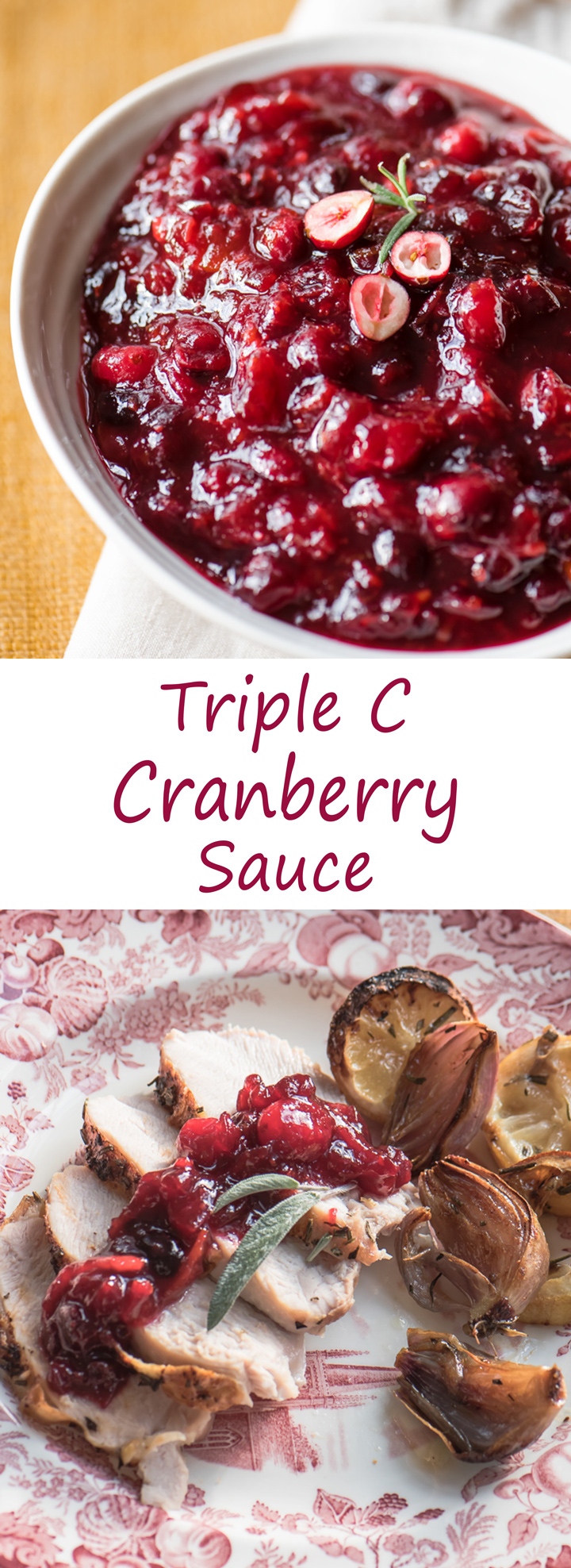 Triple C Cranberry Sauce Recipe has bright cranberry and orange flavor. Delicious and easy recipe.