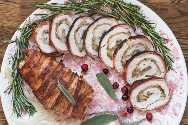 Turkey Breast Roulades with Fontina and Fennel Pollen
