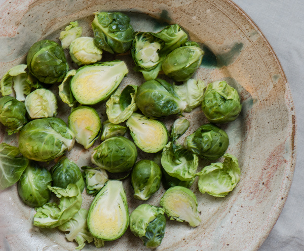 Brussels Sprouts with Pomegranate Glaze, recipe.