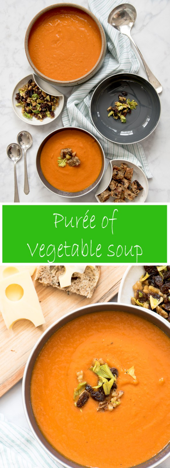 Puree of Vegetable Soup, an easy recipe with bright fresh vegetable flavor.
