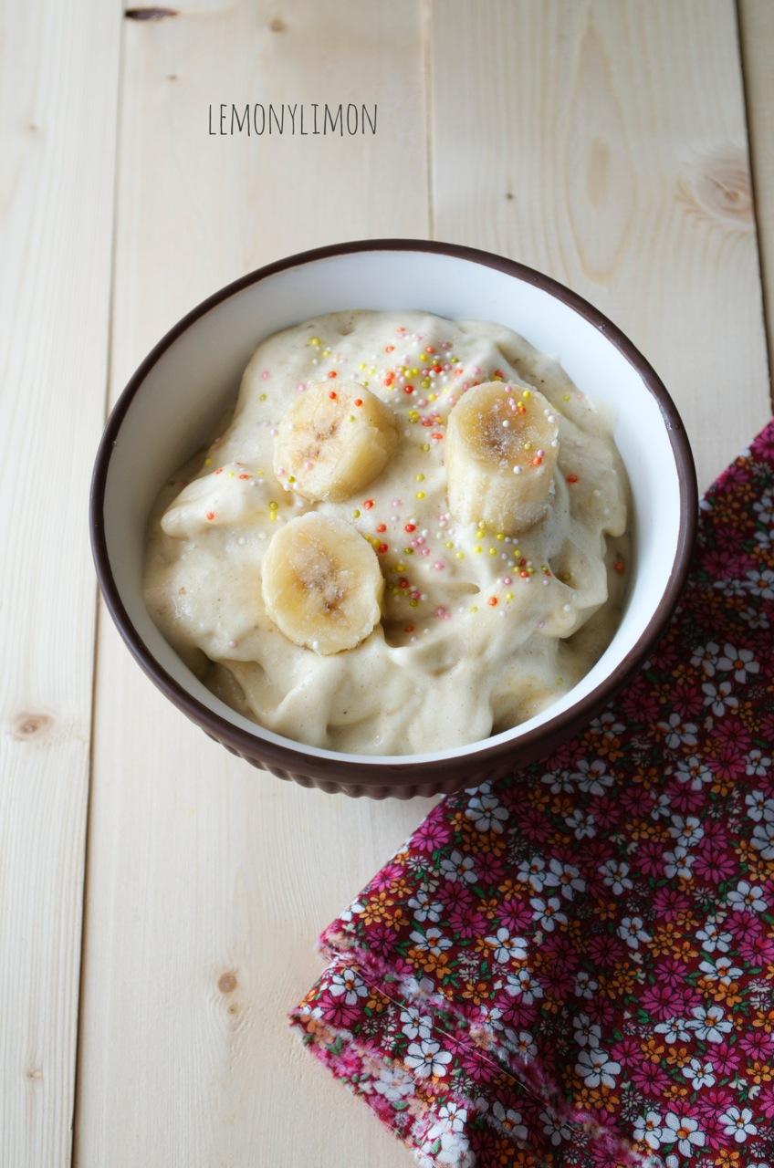 helado del plátano sano
