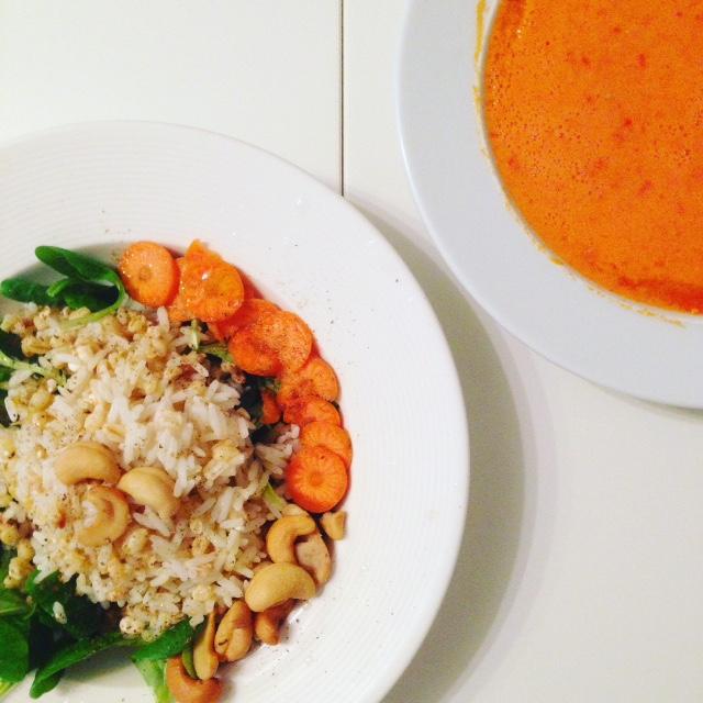 ensalada de verduras y quinoa