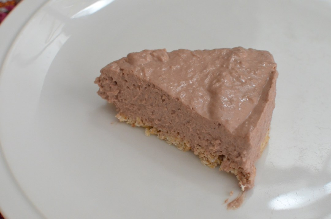 cheesecake de chocolate fitness sin horno
