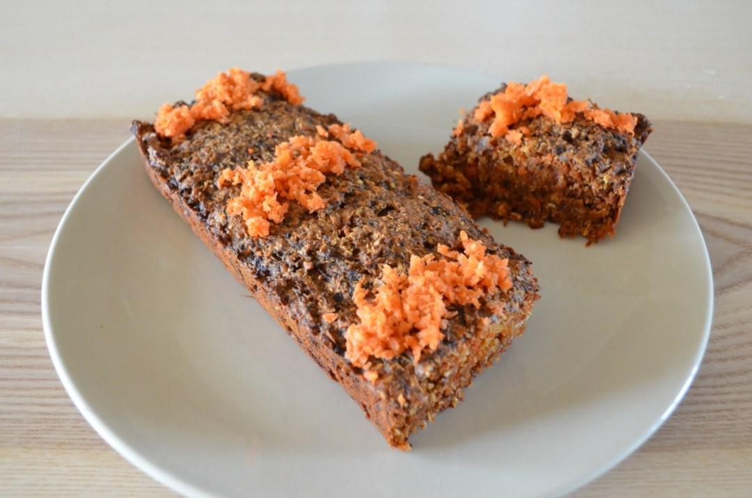 bizcocho de zanahoria vegano y saludable