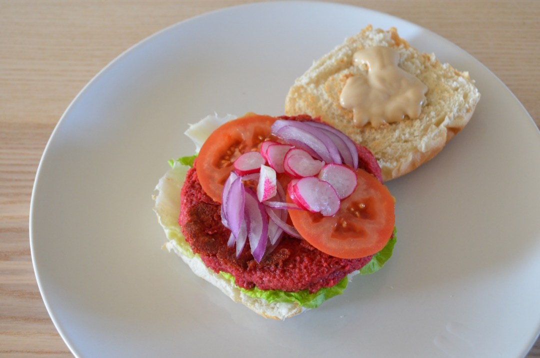Hamburguesa Vegana de remolacha