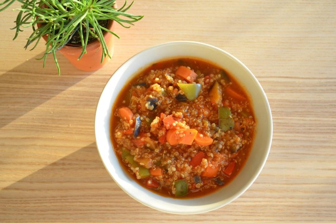 guiso de quinoa con verduras