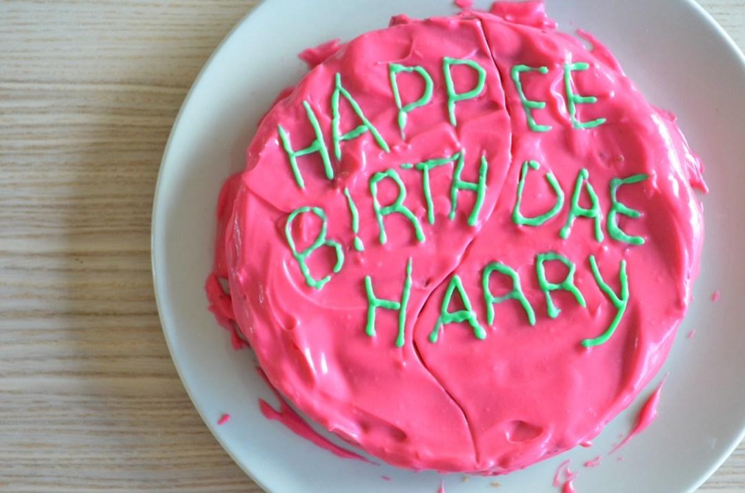 Tarta de cumpleaños de Harry Potter