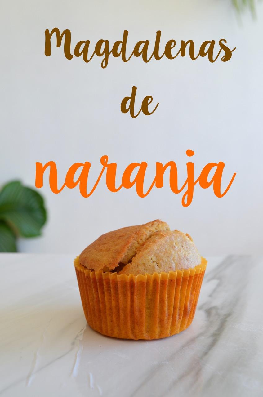 magdalenas de naranja veganas
