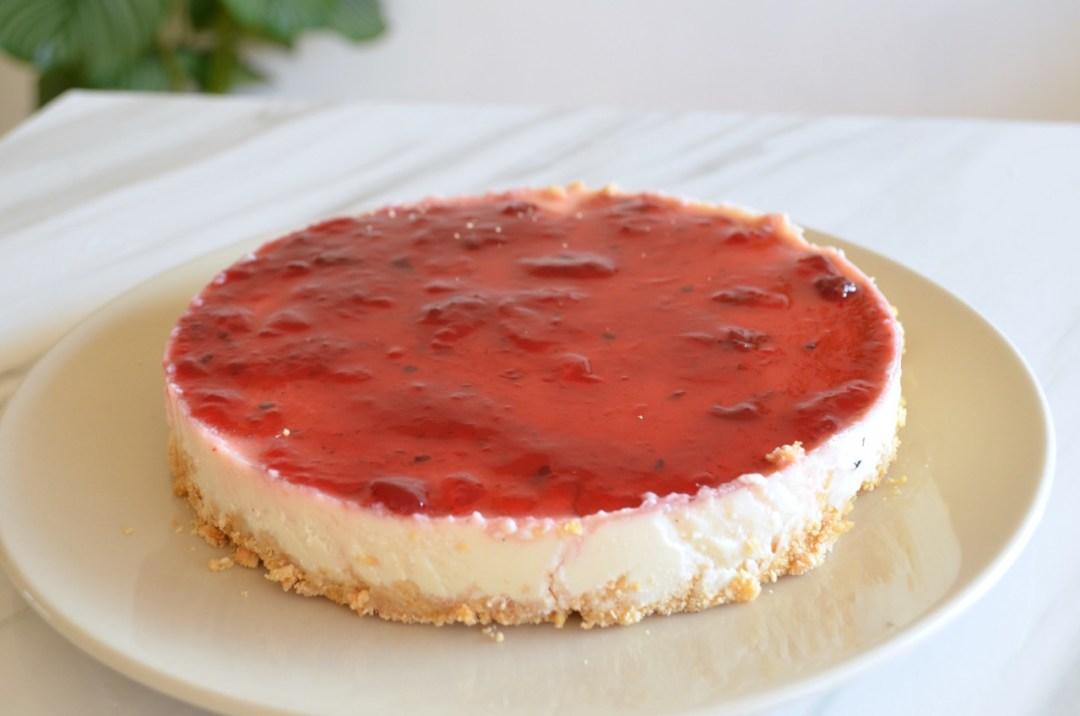tarta de queso fría sin horno vegana y saludable
