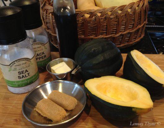 Maple Brown Sugar Baked Acorn Squash