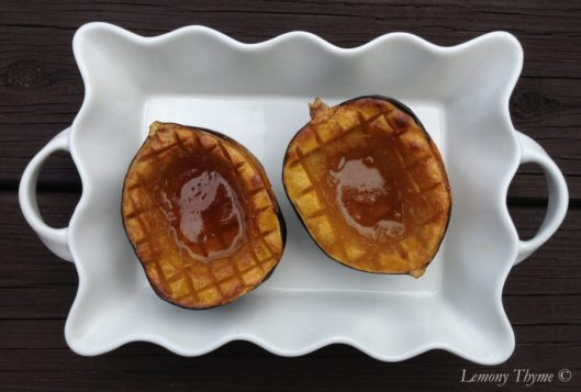 Maple Brown Sugar Baked Acorn Squash