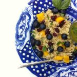 Blueberry Mango Quinoa Salad with Lemony Basil Vinaigrette