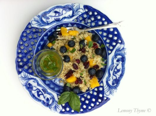 Blueberry mango Quinoa Salad