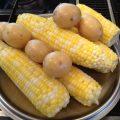 Corn and Shrimp Chowder - corn & potatoes
