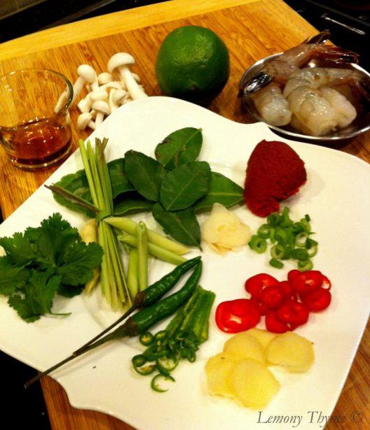 Thai Chile shrimp soup