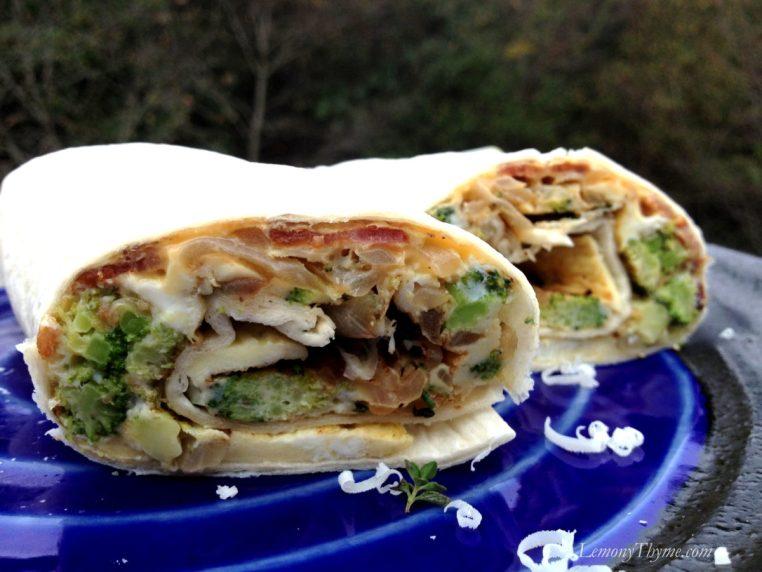 Broccoli & Bacon Breakfast Burrito
