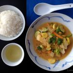 Thai Curry White Fish with Zucchini & Summer Squash