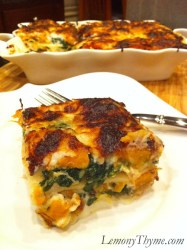 Butternut Squash, Spinach & Caramelized Onion Lasagna-Weight Watchers