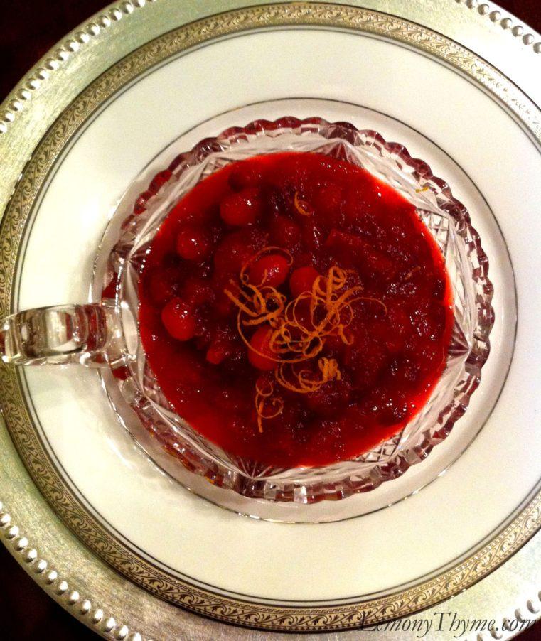 Cranberry Orange Chutney with Crystallized Ginger