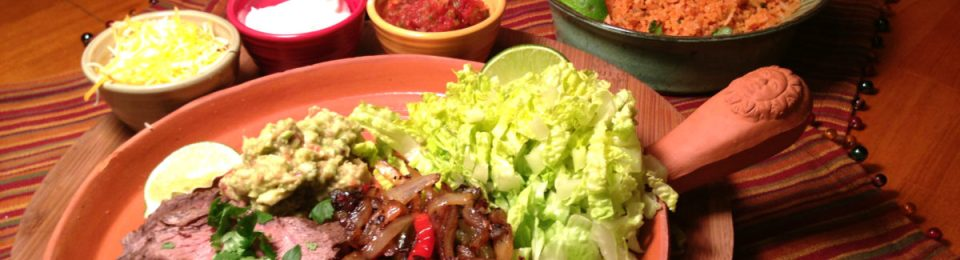 Flat Iron Steak Fajitas