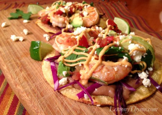 Shrimp & Avocado Tostadas