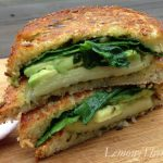 Spinach & Avocado with Pesto Grilled Cheese
