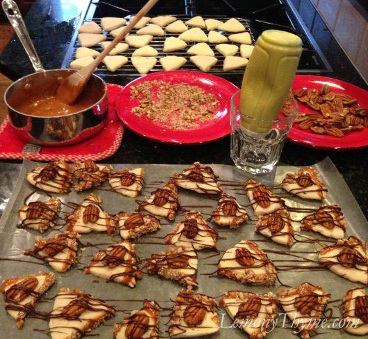 Turtle Shortbread Cookies