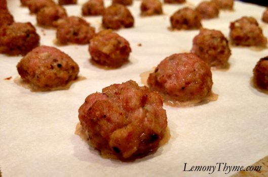 Turkey Burger Meatballs