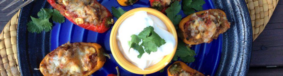 Southwest Stuffed Mini Sweet Peppers