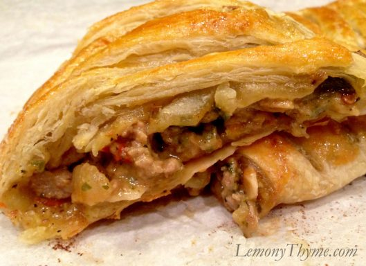 Sausage Peppers Caramelized Onion Stromboli