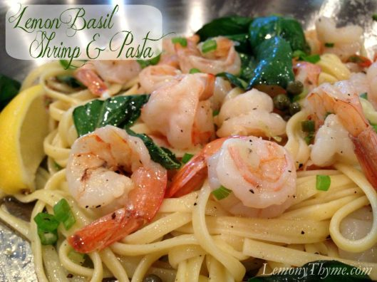 Lemon Basil Shrimp & Pasta from Lemony Thyme