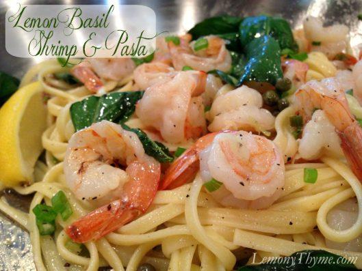 Lemon Basil Shrimp & Pasta from Lemony Thyme