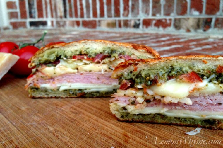 Parmesan Pesto Grilled Tomato Ham & Cheese