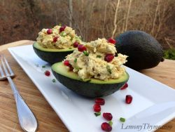 Curried Chicken Salad with Almonds & Pomegranate