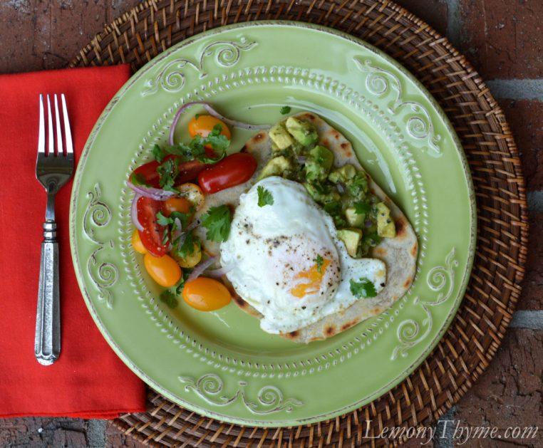 Fire Roasted Tomatillo Guacamole & Eggs