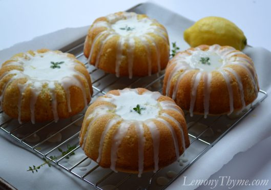 Lemony Thyme Pound Cake with Lemon Glaze