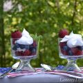 Red Velvet White & Blueberry Dessert