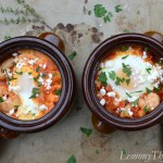 Smoky Shrimp Diablo with Baked Eggs