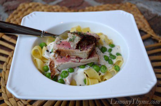 Ahi Tuna Noodle Casserole
