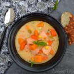 Cajun Salmon & Sweet Potato Chowder