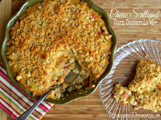Cheese Scalloped Corn Casserole from Lemony Thyme