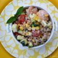 Shrimp & Summer Vegetable Farro Salad