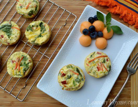 Feta & Vegetable Mini Frittatas