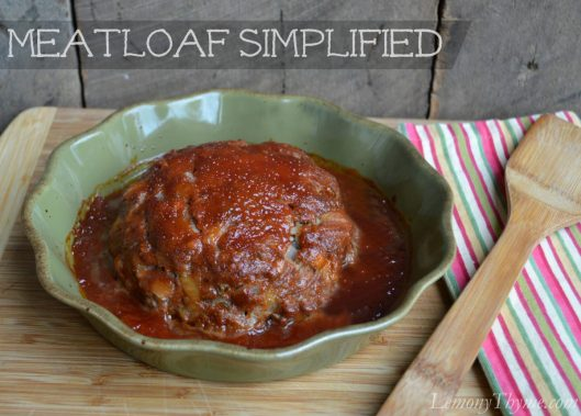 Meatloaf Simplified from Lemony Thyme