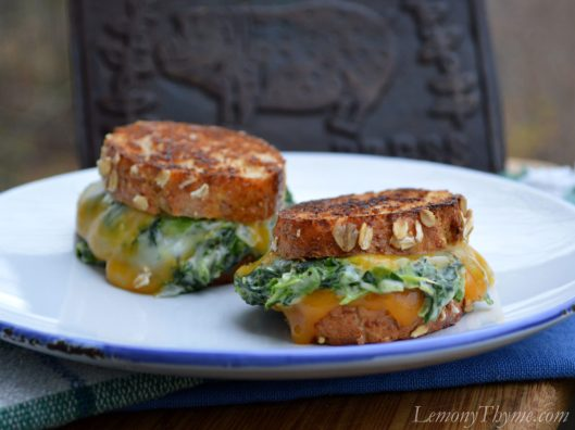 Spinach Arfredo Grilled Cheese Sliders1