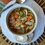 Turkey Noodle Soup {with Thyme Roasted Veggies}