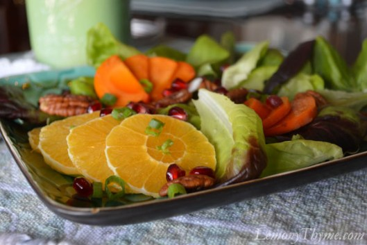 Orange, Persimmon, Pomegranate Salad1