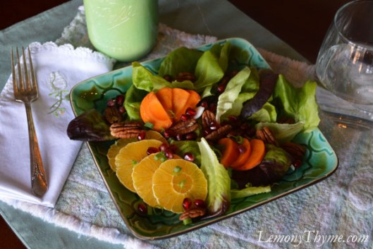 Orange, Persimmon, Pomegranate Salad2