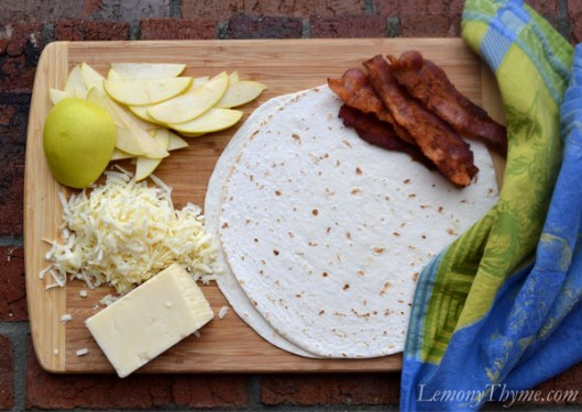 Apple, Smoked Bacon & White Cheddar Quesadilla
