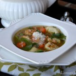 Lemon, Tortellini & Meatball Soup